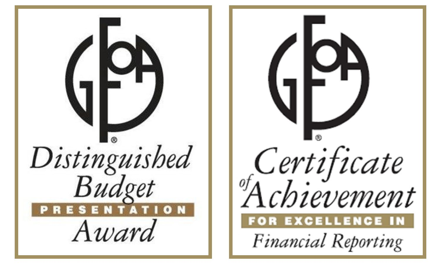 Distinguished Budget and Excellence in Financial Reporting Awards