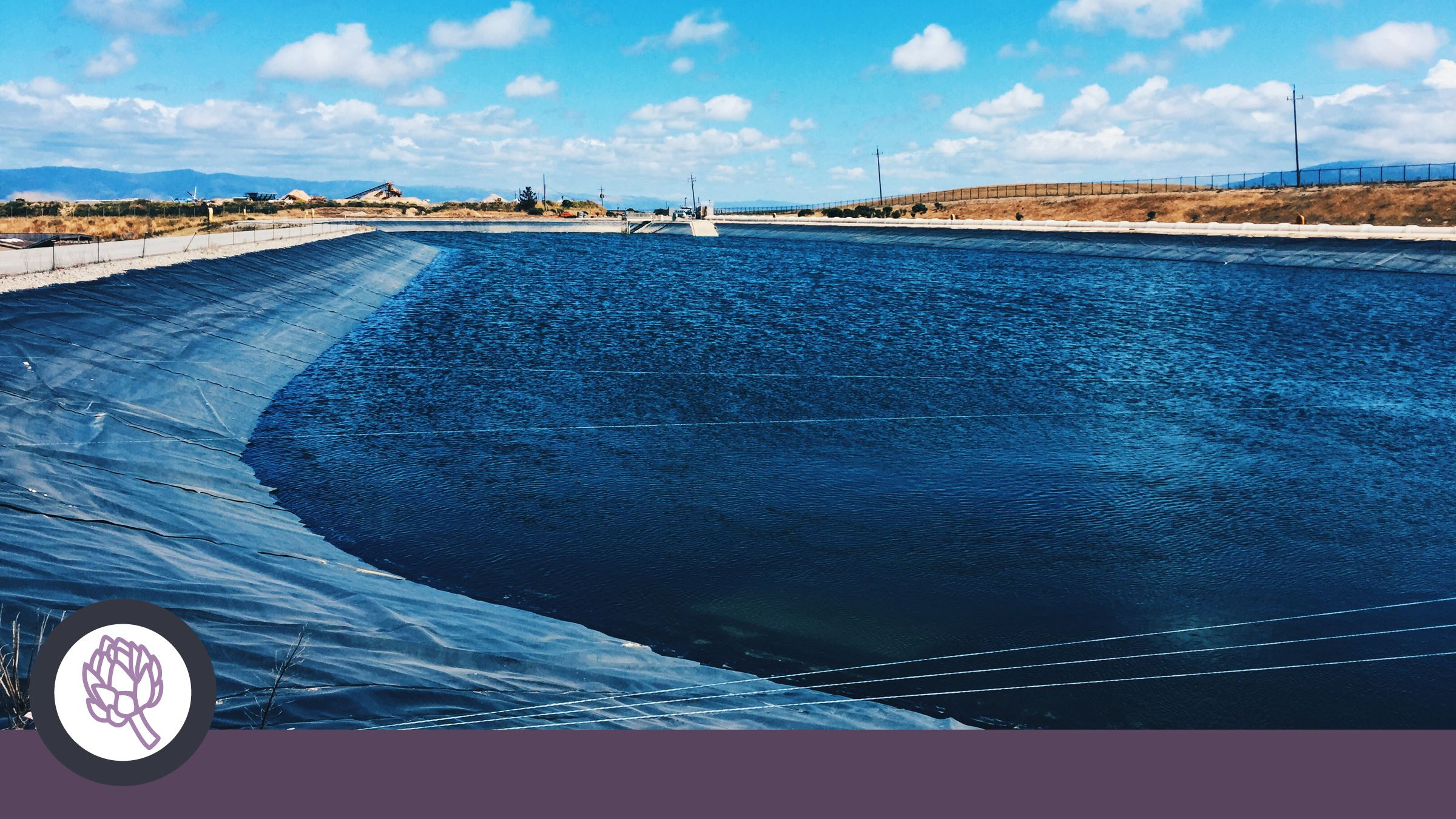 Recycled water storage pond at the Regional Treatment Plant