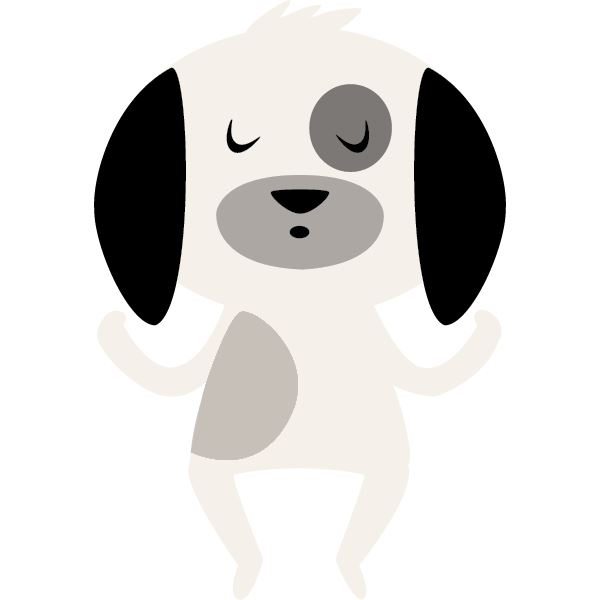 Avatar of a cartoon dog meditating that represents customer service representative Michelle